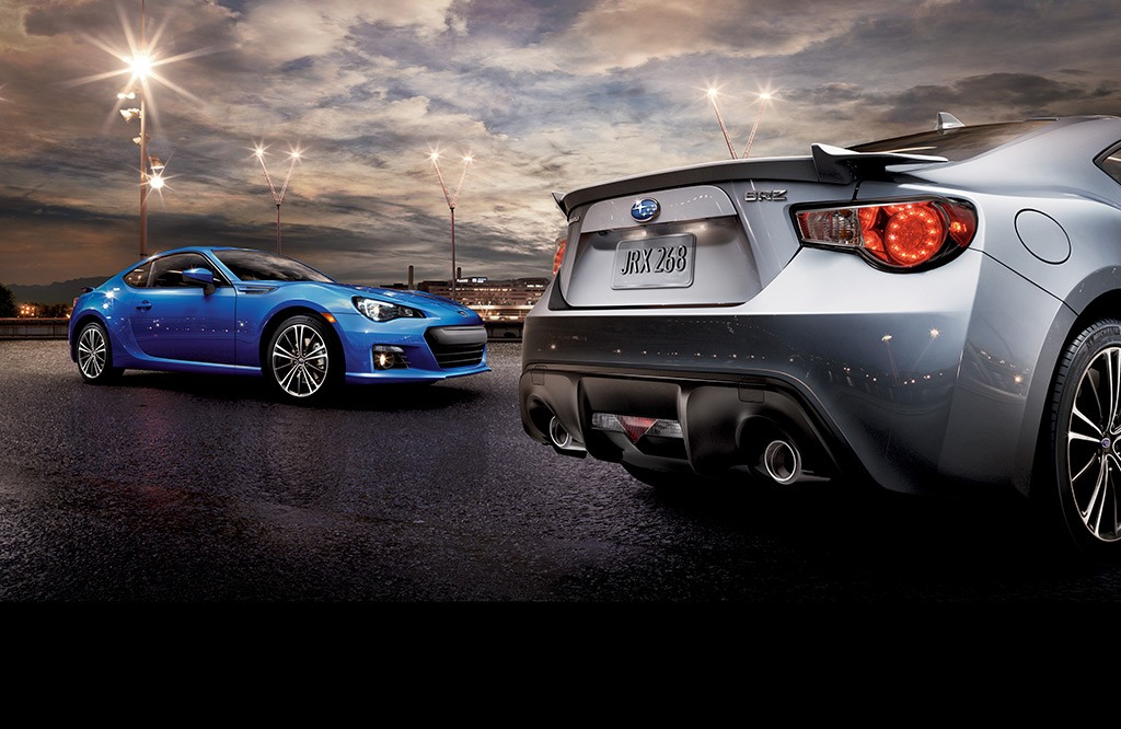 BRZ Limited in both WR Blue Pearl and Ice Silver Metallic.