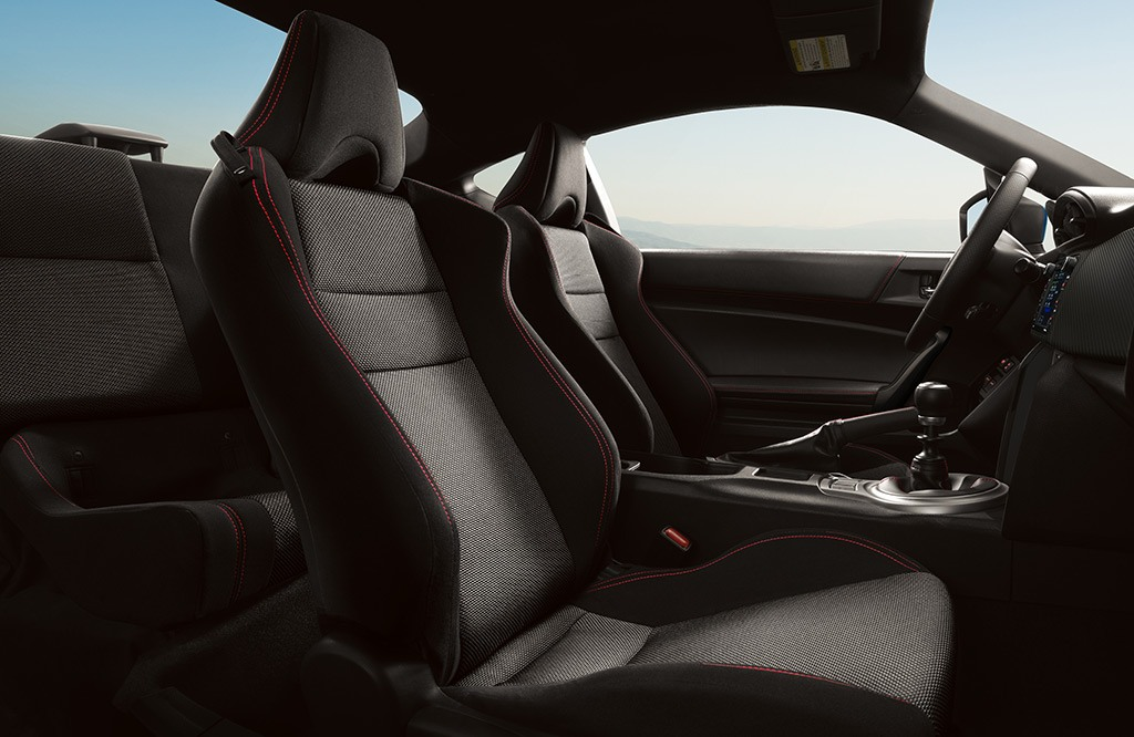 BRZ Premium Black Cloth interior