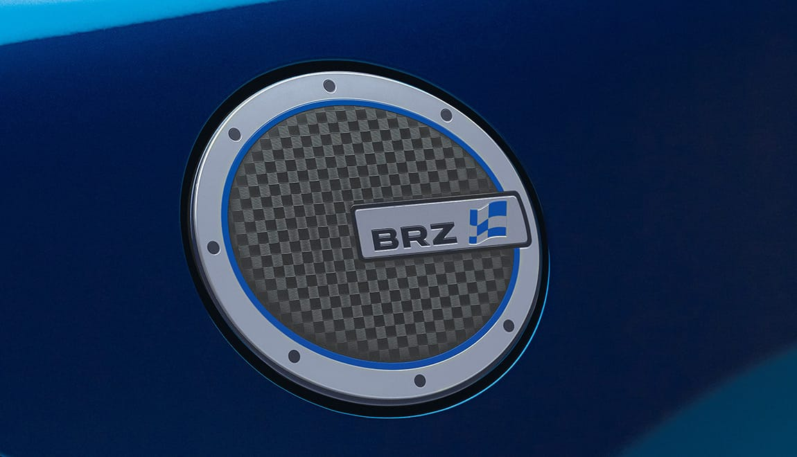 Give your BRZ a sportier look by adding a touch of personalization with this chrome-plated fuel door cover.
