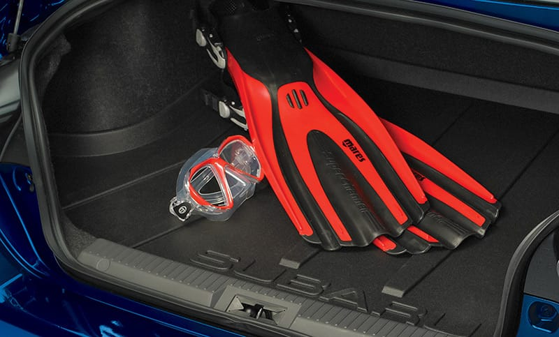 <b>Cargo Tray</b>  Helps protect the trunk area from stains and dirt while providing a surface that helps reduce the shifting of cargo while driving. Cannot be used with the Subwoofer.