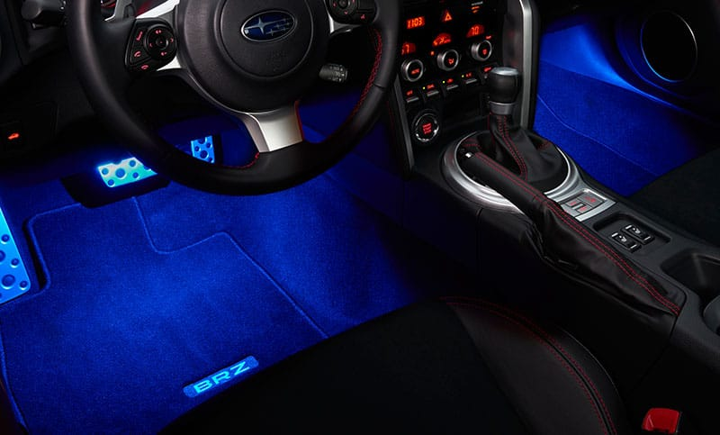 <b>Footwell Illumination Kit</b>  Casts a soft blue or red glow onto the front floor area.