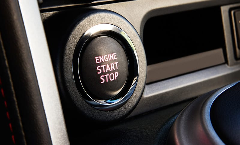 <b>Keyless Access with Push-Button Start</b>  Few things will be quite as satisfying as walking up to your BRZ, opening the door and firing up the boxer engine, all while your key never leaves your pocket. The available Keyless Access with Push-Button Start makes it possible.