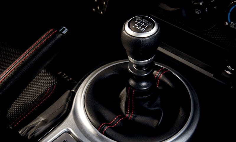 <b>Short-throw Shifter</b>  Take control of the smooth-shifting 6-speed manual transmission by taking hold of the leather-wrapped short-throw shifter, which is placed optimally for minimized effort and maximum connection to the engine's performance.