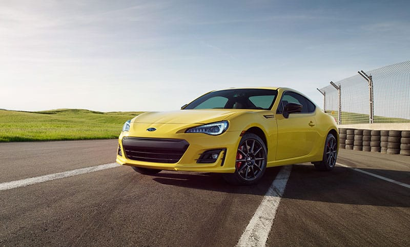 <b>Limited in numbers. Unlimited in potential.</b>   <b>BRZ Series.Yellow</b><br><br>The 2017 BRZ Series.Yellow blazes onto the scene with a fiery new look–and performance upgrades to match. It includes Sachs® performance dampers for sportier handling, and high-performance Brembo® brakes with 4-piston front and dual-piston rear calipers with 12.8