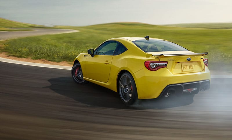 <b>SACHS® Performance Dampers</b><br><br>For a pure sports car like the BRZ Series.Yellow, suspension matters. SACHS® Performance Dampers help give the BRZ Series.Yellow improved handling through corners, with a better overall ride quality and the sporty feel that drivers want.