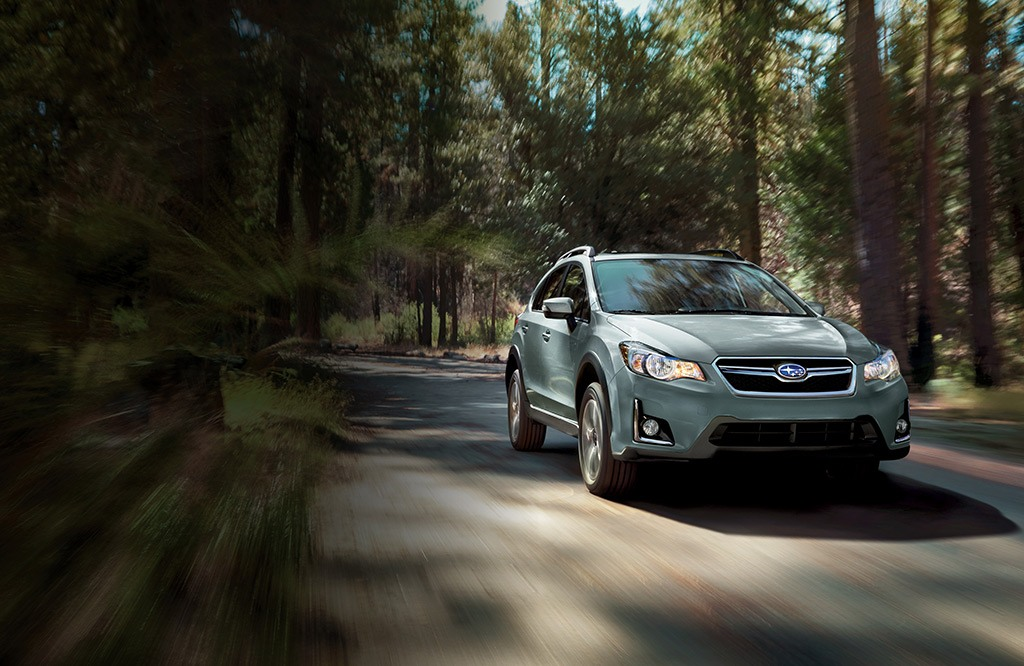 Crosstrek Hybrid Touring in Jasmine Green Metallic.