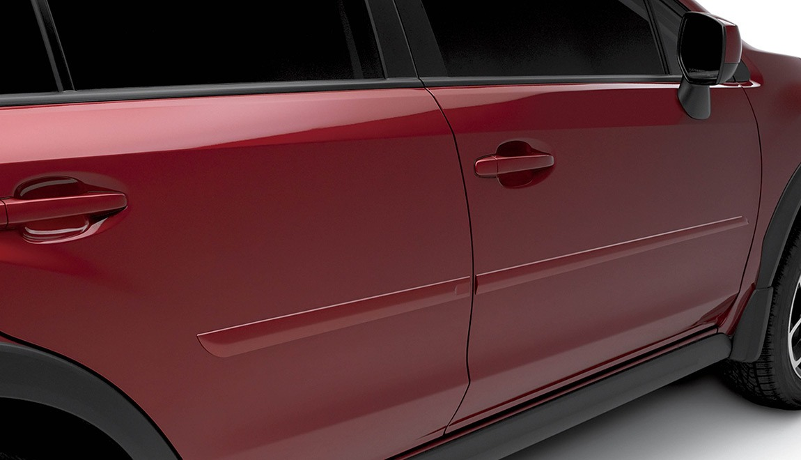 Attractive color-matched moldings coordinate with the styling of the vehicle while helping to protect the doors from unsightly dings.