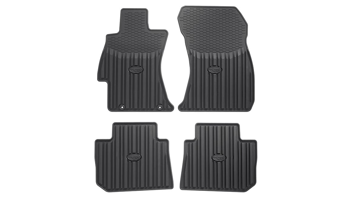 Custom-fitted heavy gauge floor mats help protect the vehicle carpet from sand, dirt and moisture.