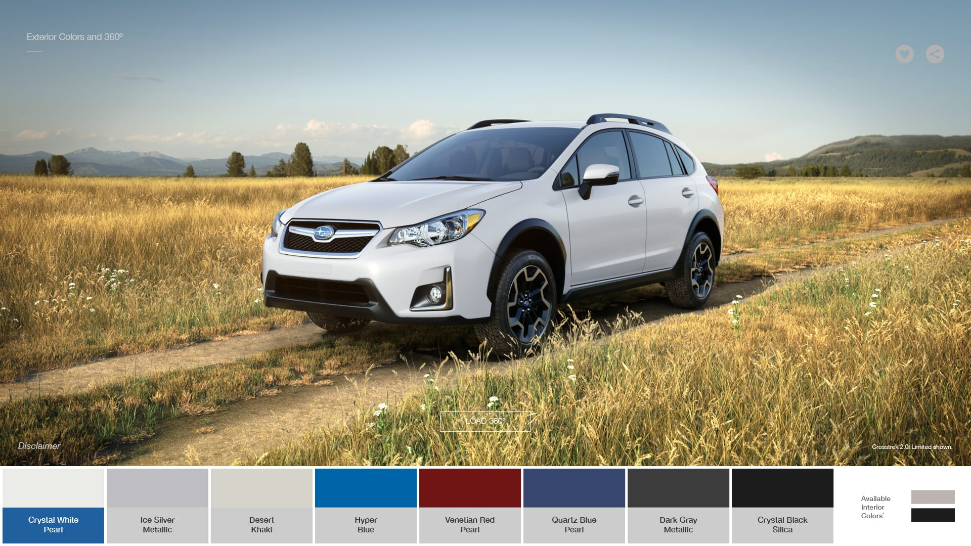 subaru crosstrek colors 2017 subaru crosstrek color options. Black Bedroom Furniture Sets. Home Design Ideas
