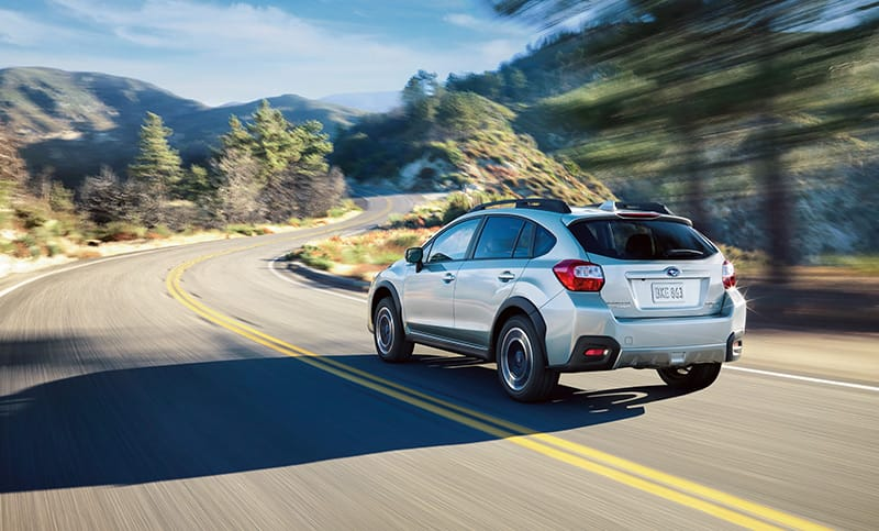 <b>Efficiency</b>  Have your fun and fuel economy, too. The Crosstrek 2.0i achieves up to 33 highway MPG<sup>1</sup> with standard Subaru Symmetrical All-Wheel Drive.