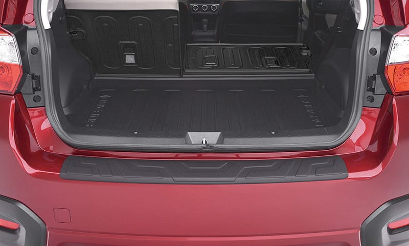 <b>Rear Seatback Protector</b>  Provides additional protection to the rear seatbacks when lowering the seats to transport larger cargo.  <i>For a complete list of available accessories, visit your local Subaru retailer or visit Subaru.com.</i>