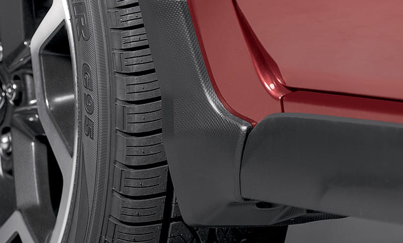 <b>Splash Guards</b>  Help protect vehicle paint finish from stones and road grime. Set of four.  <i>For a complete list of available accessories, visit your local Subaru retailer or visit Subaru.com.</i>