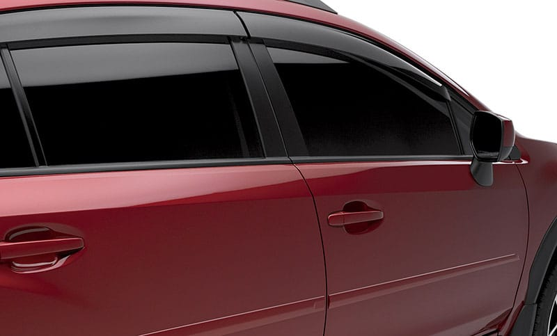 <b>Body Side Moldings</b>  Attractive color-matched moldings coordinate with the styling of the vehicle while helping to protect doors from unsightly dings.  <i>For a complete list of available accessories, visit your local Subaru retailer or visit Subaru.com.</i>