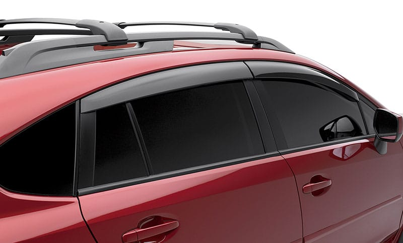 <b>Side Window Deflector</b>  Designed to let the fresh air in while helping to keep the rain out of the vehicle.  <i>May not be legal in all states. Please check the laws of your state.</i>