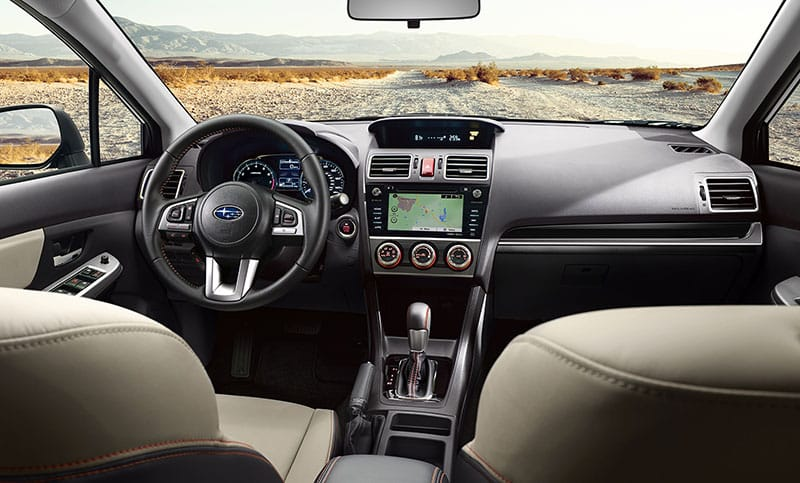Standard perks make the ride worthwhile. Every Crosstrek includes a touchscreen SUBARU STARLINK™ Multimedia system with Pandora®, iHeart® Radio, Stitcher™ and Aha™ smartphone app integration<sup>4</sup>, Bluetooth® connectivity, and HD Radio®.