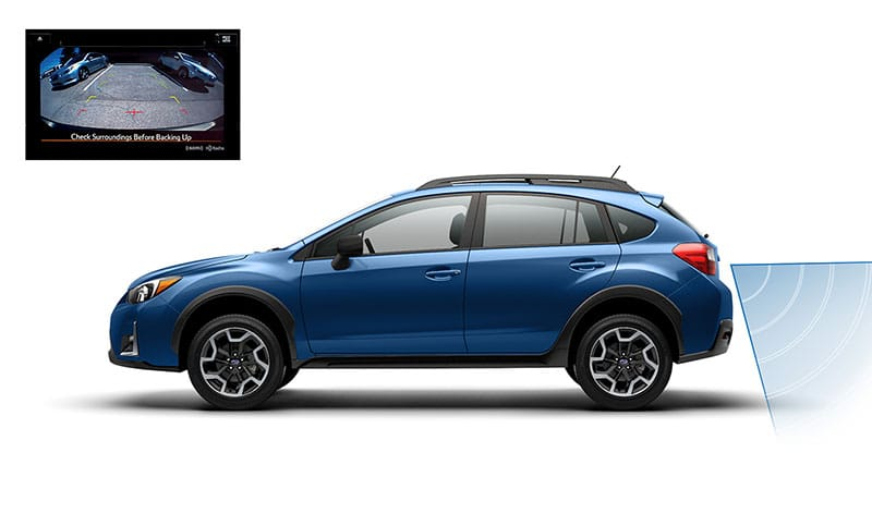 <b>Rear-Vision Camera</b>                  Before you can avoid danger, you have to see it coming. The Crosstrek features a standard Rear-Vision Camera that gives you a clearer view of the area behind your vehicle, so you can be in charge of your surroundings.