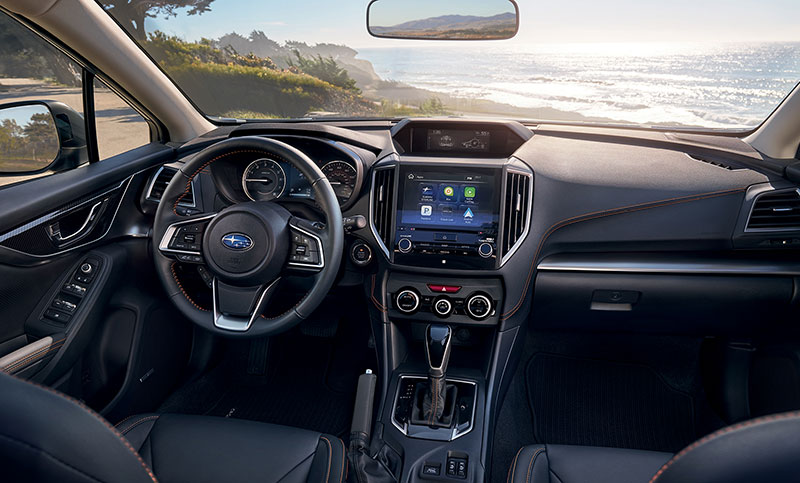 <b>Interior Technology </b><br><br>Connected nearly anywhere you go. That's the advantage of the all-new Crosstrek with upgraded technology and standard perks like SUBARU STARLINK<sup>™</sup> Multimedia.