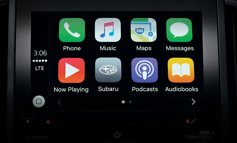 <b>Apple CarPlay<sup>™</sup></b> <br><br>Apple CarPlay<sup>™</sup> is the smarter, safer way to use your iPhone in your vehicle. CarPlay allows you to get directions, make calls, send and receive messages, and listen to music, while keeping your focus on the road. Just connect your iPhone and go.<sup>2</sup><br>
