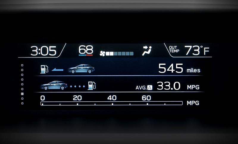 <b>Multifunction Display</b>  <br><br>At 6.3 inches, the available full-color multifunction display helps you keep tabs on safety systems, navigation directions, average fuel economy, driving range, maintenance reminders and more<sup>9</sup>.<br>