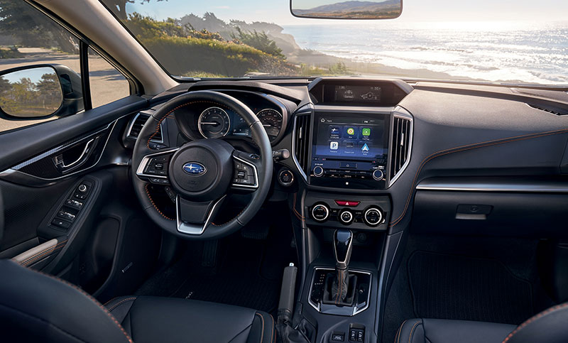 Standard perks make the ride worthwhile. Every Crosstrek includes SUBARU STARLINK<sup>&trade;</sup> Multimedia systems with standard Apple CarPlay,<sup>&trade;</sup> Android<sup>&trade;</sup> Auto and Pandora<sup>&reg;</sup> app integration<sup>2</sup> that puts your favorite content from your mobile device right on the 6.5-inch or  8-inch touchscreen<sup>9</sup>.<br>