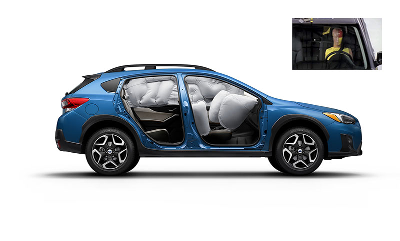 <b>Passenger Protection</b><br><br>Now stronger and safer, the 2018 Crosstrek features the all-new Subaru Global Platform with an increased use of high-strength steel for better crash protection, plus a 40% increase in impact energy absorption. It's also 70% more rigid and features a lower center of gravity for increased maneuverability and accident avoidance. You can count on our Ring-shaped Reinforcement Frame for extra protection as well. <br>