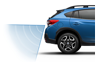 <b>Reverse Automatic Braking</b><br>           <br>New for the 2018 Crosstrek, Reverse Automatic Braking (RAB)<sup>9.14</sup> can detect objects directly behind your vehicle when backing up at a slow speed and can help bring the Impreza to a stop, should an object be detected within its range and the driver fail to act. It also alerts you to your proximity to objects behind you by sounding a series of alarms and displaying warnings on the standard Rear-Vision Camera display that helps give you a clearer view of the area behind your vehicle.<br>