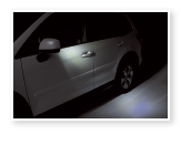 Auto-dimming Mirrors with Approach Light