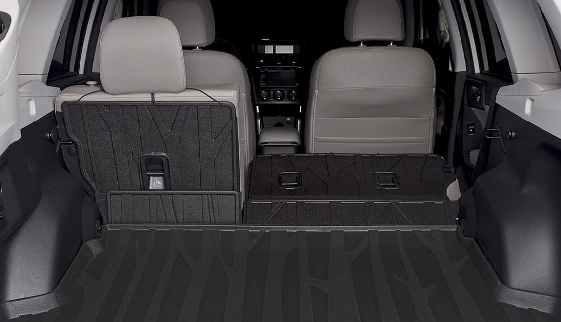 Provides additional protection to the rear seatbacks when lowering the seats to transport larger cargo. Use in conjunction with a Rear Cargo Tray.
