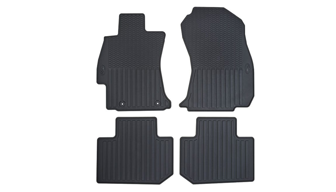 Custom-fitted, heavy-gauge floor mats help protect the vehicle carpet from sand, dirt and moisture. Not intended for use on top of Carpeted Floor Mats.
