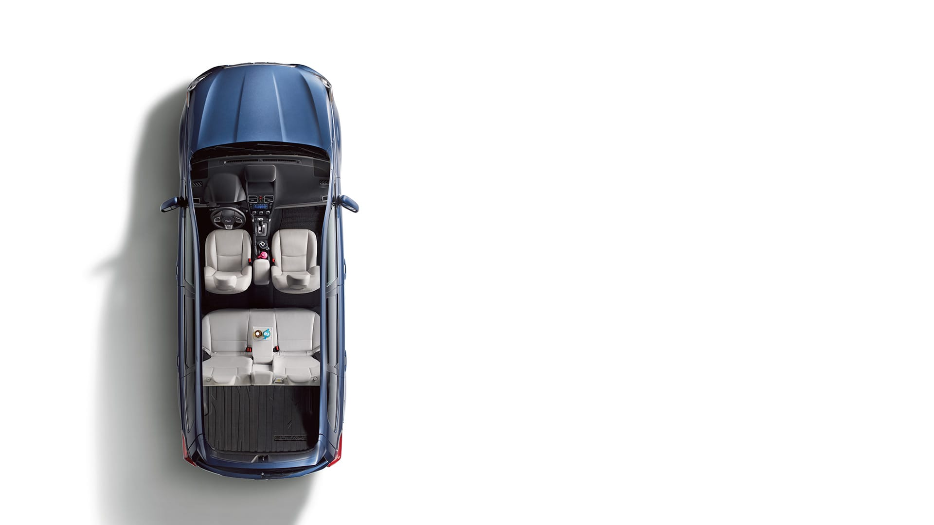 Passengers and cargo both get plenty of breathing room in the 2017 Forester. There's lots of room for front and rear passengers and ample space for everything else.