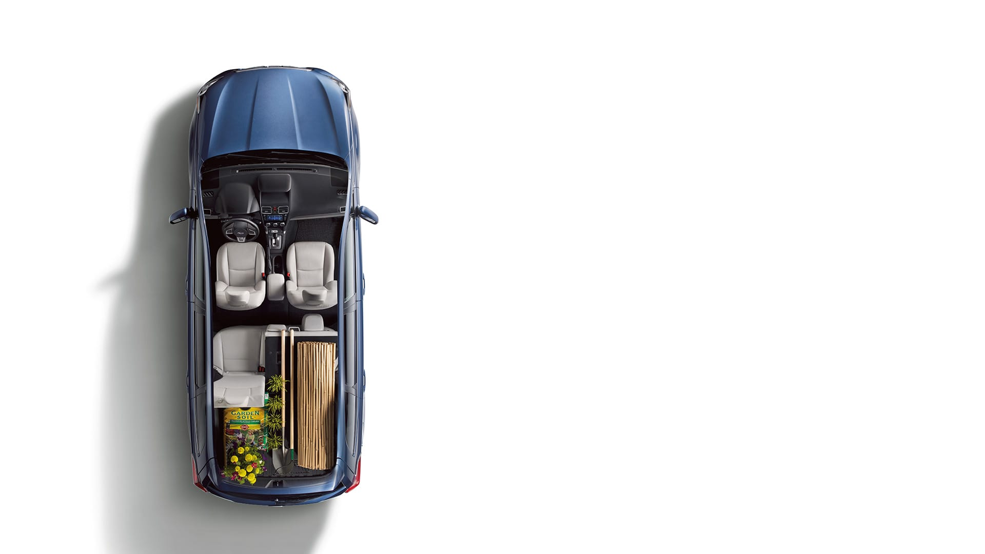 The cargo area makes excellent use of its generous space with hooks to help keep grocery bags from spilling during driving, plus available accessory items like cargo nets to keep things secure and a cargo tray<sup>2</sup> to help protect against mud and grime.
