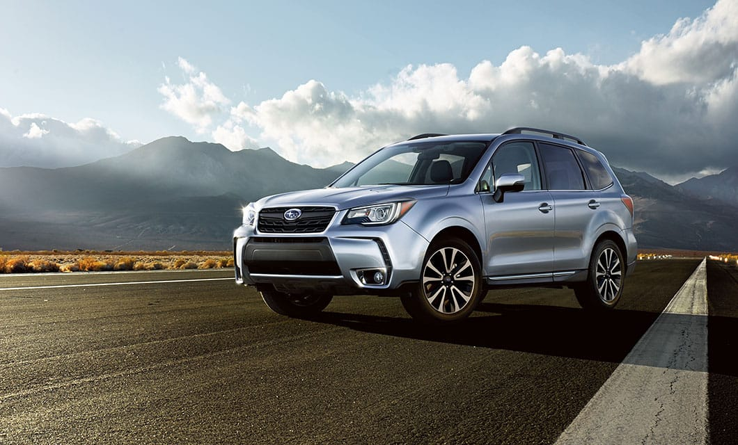 <b>Forester 2.0XT</b><br><br>Utility with just the right amount of sport, the Forester 2.0XT features a turbocharged, direct-injection SUBARU BOXER® engine, Lineartronic® CVT and aggressive looks that reveal the fiercer side of the Forester 2.0XT.<br><br><br>