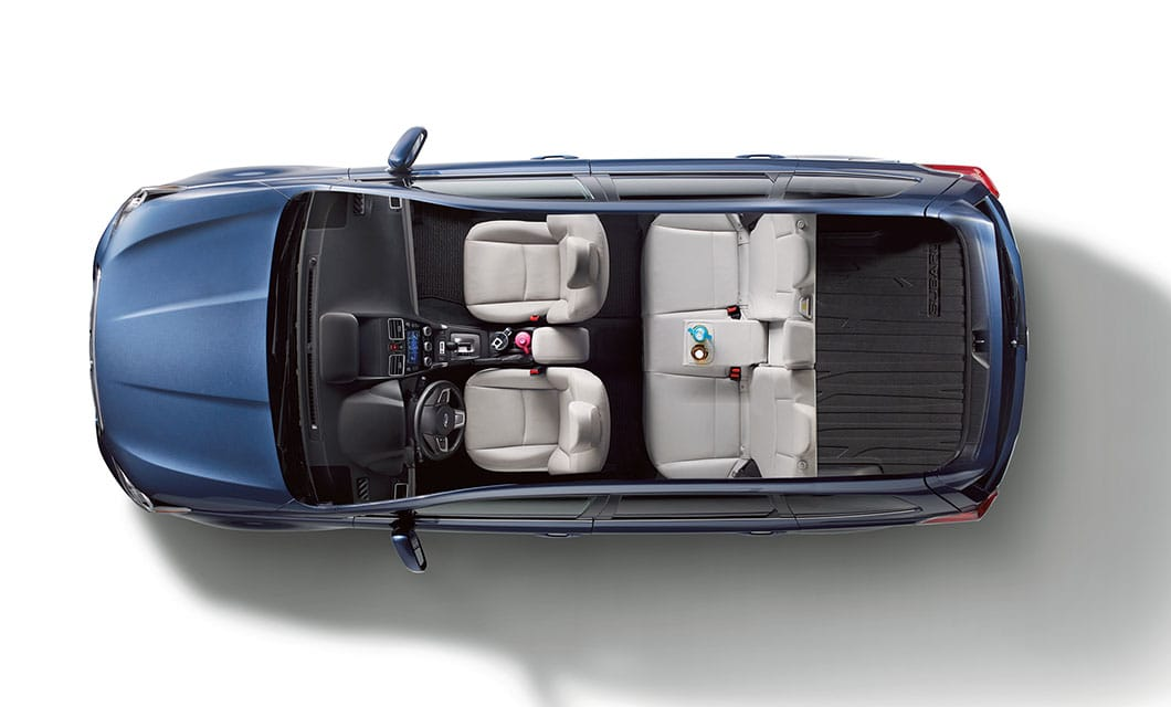 <b>Roomy Cabin</b><br><br>Passengers and cargo both get plenty of breathing room in the 2017 Forester. There's lots of room for front and rear passengers and ample space for everything else.<br>