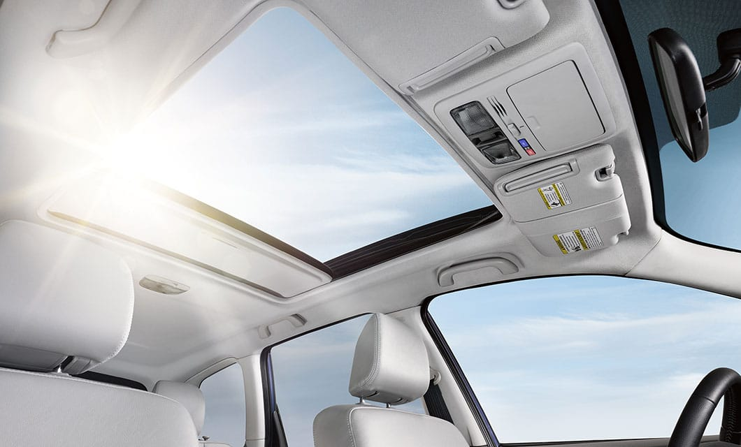 <br>Name a few clouds. Count a few stars. The available panoramic moonroof gives everyone a terrific view.<br>