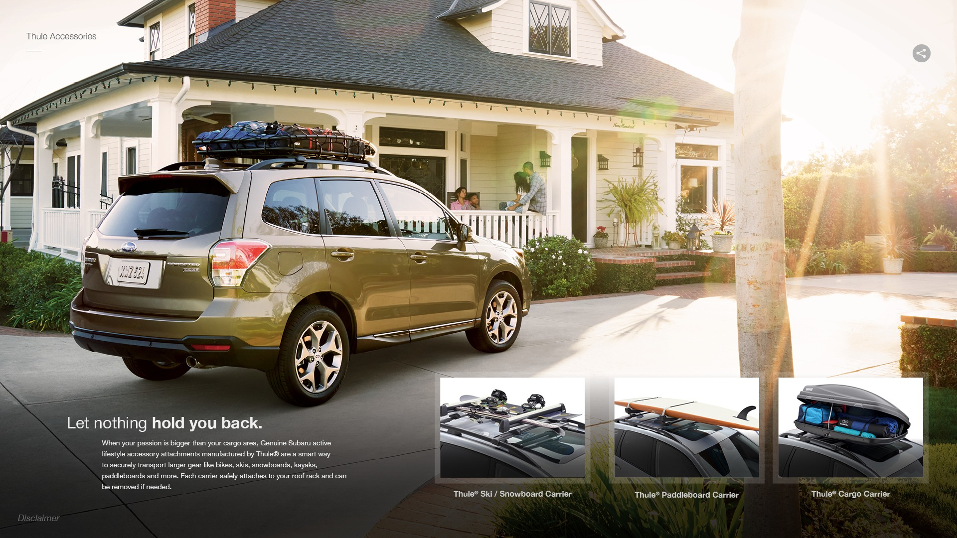 Thule Roof Rack & Accessories For 2018 Subaru Forester