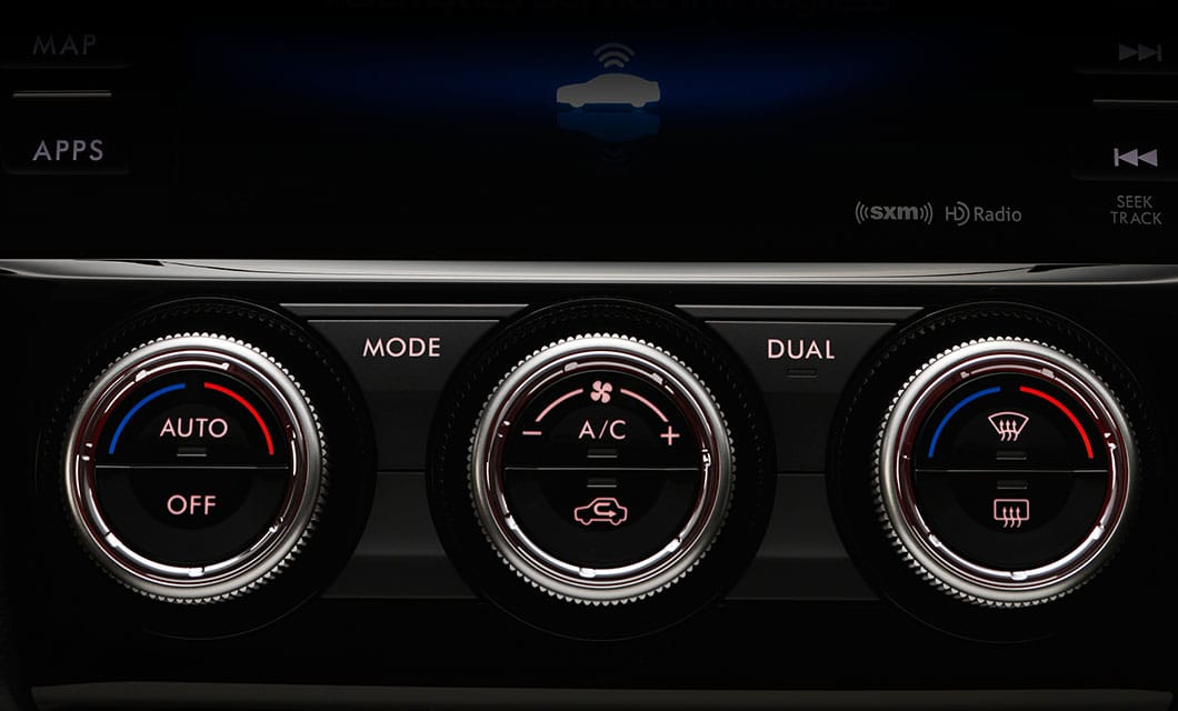 <b>Dual-zone Automatic Climate Control</b><br><br>Enjoy custom comfort with available dual-zone automatic climate control. The driver and front passenger can set their own temperatures and the system will adjust the air conditioning or heating to keep it just right.<br>
