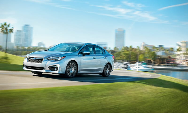 <b>AWD + 38 MPG</b> <br><br>Go after what you love with more money in your pocket in the efficient 2018 Impreza. It achieves up to 38 highway mpg<sup>9</sup> with standard Subaru Symmetrical All-Wheel Drive, empowering you to spend less time filling up and more time taking on roads other cars wish they could.