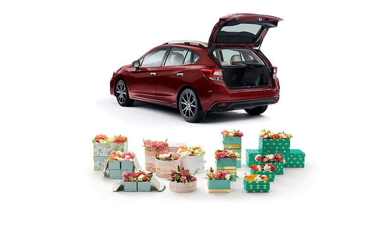 <b>Large Cargo Area</b><br><br>There&rsquo;s 12.3 cubic feet of space in the large trunk of the Impreza sedan. Plus, should you need it, you can easily accommodate longer items with the 60/40-split flat-folding rear seatbacks.