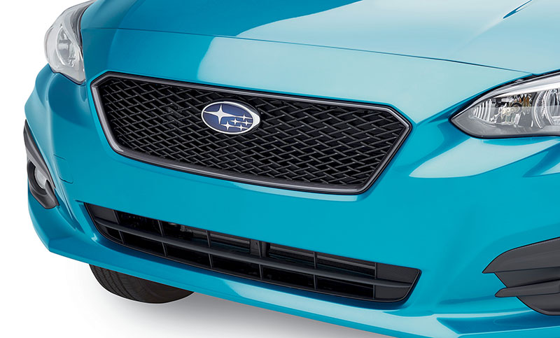 <b>Sport Mesh Grill</b><br><br>Create a custom look for the front end of your Impreza by replacing the stock factory grille with the accessory Sport Mesh Grille.