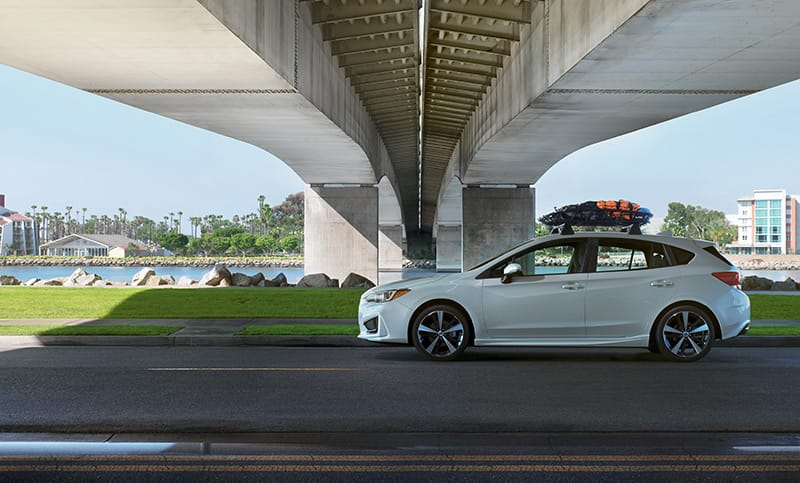 <b>One-Tank Trips</b> <br><br>With a full tank and the 2018 Impreza, you'll have up to 450 miles<sup>8</sup> and more options than you may realize. Where would you take it?