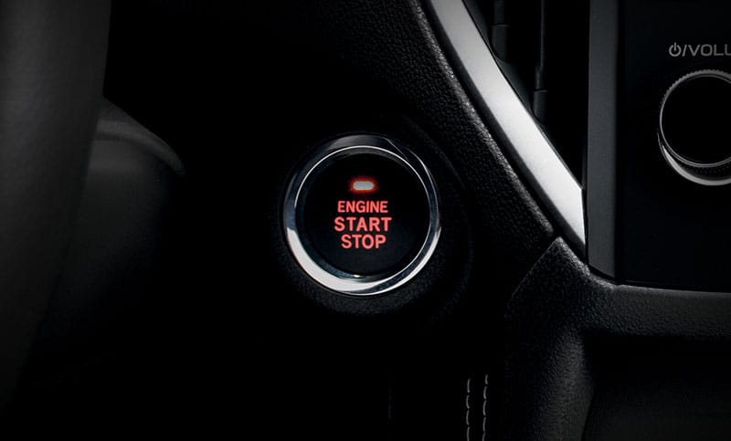 <b>Keyless Access with Push-Button Start</b><br><br>The available Keyless Access with Push-Button Start system makes getting on your way a breeze. Plus, the system smartly prevents you from locking your keys in your car<sup>4</sup>.