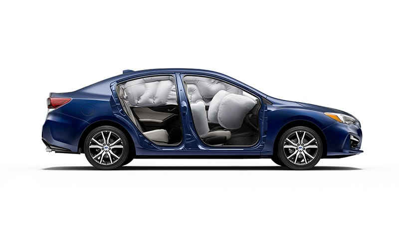 <b>Safe. To the core.</b><br><br>Loaded with the latest Subaru safety features, the 2018 Impreza protects occupants within the resilient Subaru Global Platform, and safeguards them with innovative accident avoidance technologies. <sup>11</sup>