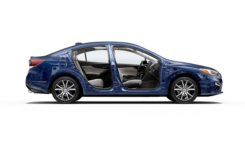 <b>Well Protected</b><br>The 2018 Impreza features the ultra-sturdy Subaru Global Platform. Fortified with high-strength steel for excellent crash protection and impact energy absorption, it&rsquo;s a key reason the 2018 Impreza received a 5-star crash safety<sup>7</sup> rating from the NHTSA. The Subaru Global Platform also provides rigidity and a low center of gravity, giving the Impreza maneuverability for accident avoidance, and responsive handling for a better driving experience.