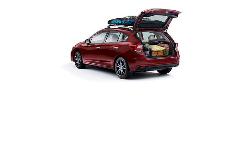 <b>Wide Rear Opening Button</b><br><br>It may surprise you how much room you have to play with. The Impreza 5-door offers 55.3 cubic feet of space with the rear seats down, and it's easy to access, thanks to its suprisingly wide rear gate opening.