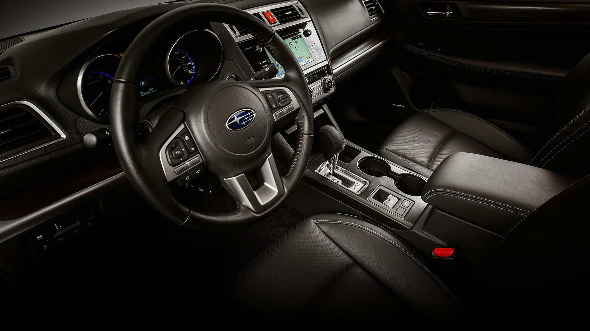 Settle into plush comfort with perforated, leather-trimmed front and rear seats.
