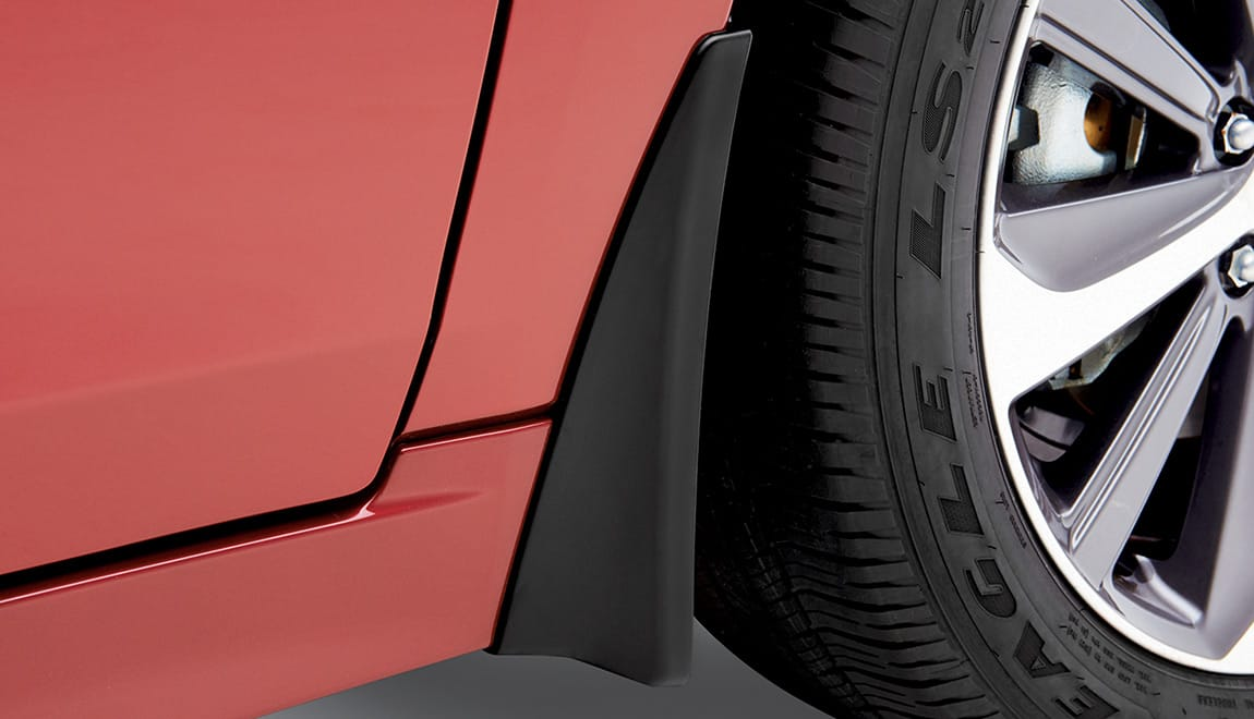 Help protect the vehicle's paint finish from stones and road grime. This accessory reduces vehicle ground clearance.