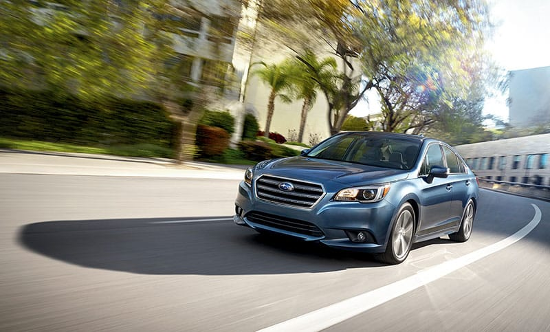 <b>Legacy 2.5i</b><br><br>Opt for remarkable fuel economy and an enjoyable drive with the Legacy 2.5i. It offers a 4-cylinder SUBARU BOXER® engine that generates 175 hp and up to 34 highway MPG<sup>2</sup> with standard Subaru Symmetrical AWD.<br><br><br>