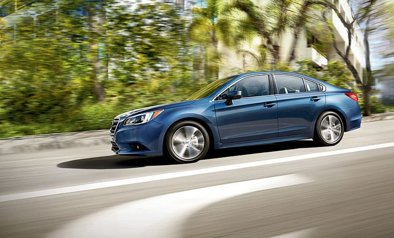 <br>Its unique combination of up to 34 highway mpg<sup>2</sup> with standard Subaru Symmetrical AWD makes the 2017 Legacy especially capable at getting you where you want to go with fuel to spare.<br>
