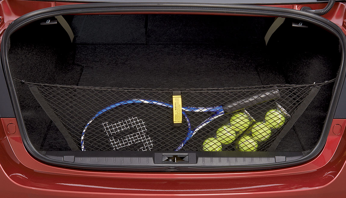 Neatly holds cargo upright and helps prevent it from sliding while the vehicle is in motion.