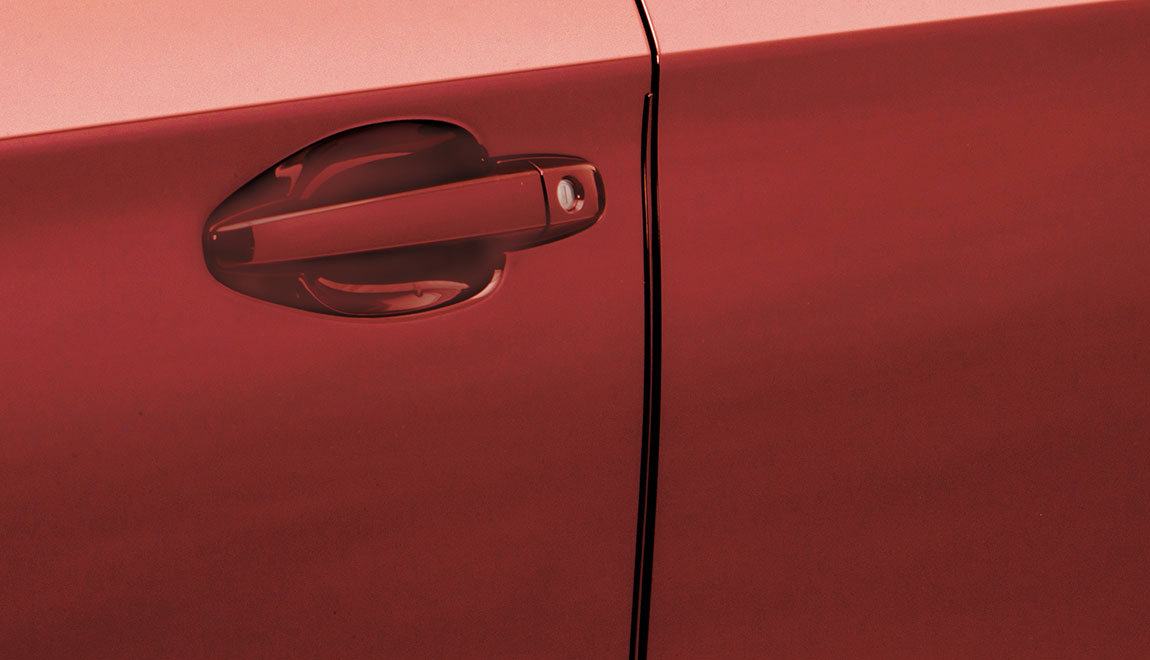 Help protect your door edges from dings and dents with custom-fit, body-color-matched stainless steel Door Edge Guards. They preserve the appearance of your Subaru while seamlessly blending into the door design.